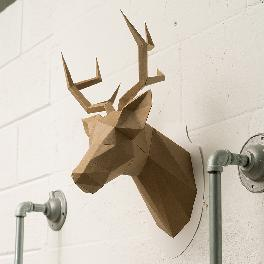 stag head figuration