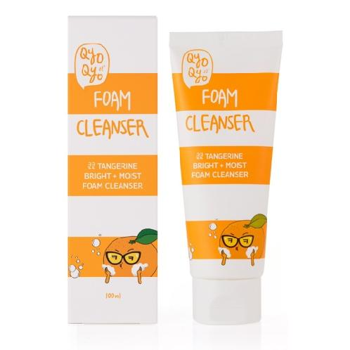 Qyo Qyo Tangerine Bright+Moist Foam Cleanser | Foam cleanser, cleanser, cleansing foam, cleanser