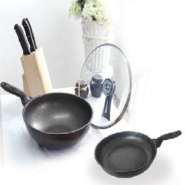 Nonstick marble-coating frying pan.wok round multi-color
