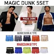 MAGIC DUNK Male Functional Underwear 5 pieces set Type A  Type B