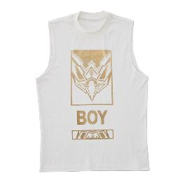BOY LONDON Eagle Head Artwork Printed Sleeveless WHITE