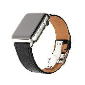 Apple Watch Band, French Barenia Premium Leather Strap with Stainless Steel Clasp for all 42mm Apple
