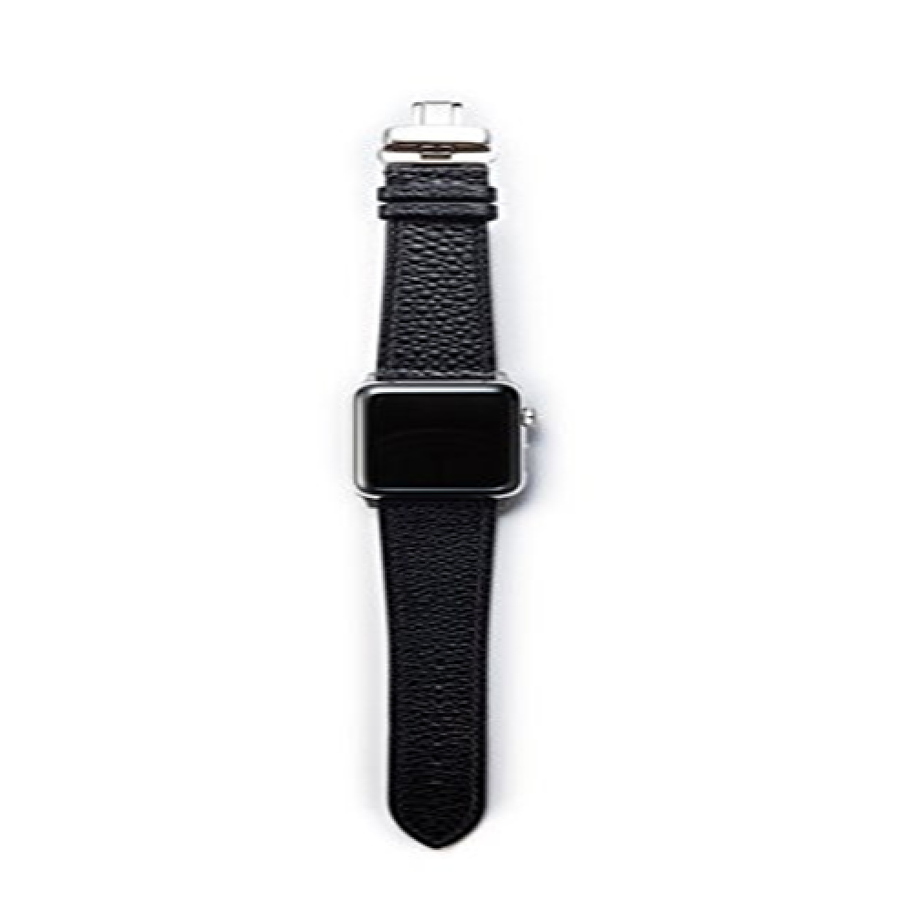 Apple Watch Band, French Epsom Premium Leather Strap with Stainless Steel Clasp for all 42mm Apple W