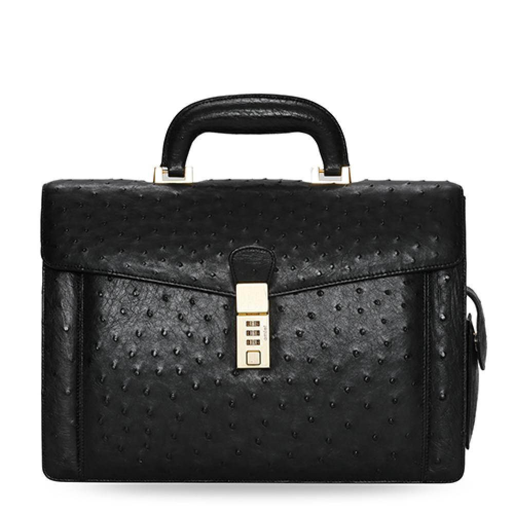 YEUNWOO Ostrich leather BRIEF CASE