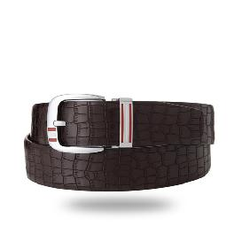YEUNWOO cowhide Crocodile Pattern BELT x Round  Buckle