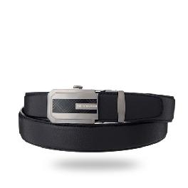 Natural cowhide Ratchet Belt With Automatic Buckle(polygon)