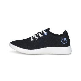 Premium Merino wool shoes_lace-up sneakers_black