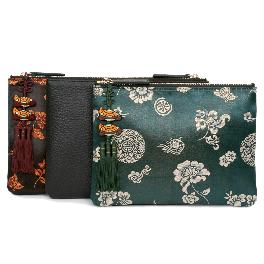 CLUTCH BAG WITH TRADITIONAL PATTERN AND NORIGAE COMBINATION2
