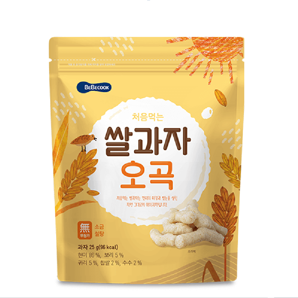 Wise Mom Rice Snack Grains Flavor