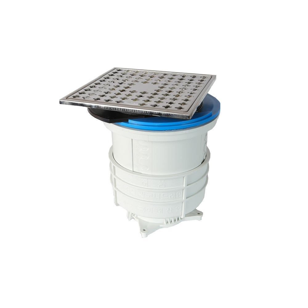 Ecentric slider drain trap M-8 as the stainless steel plate of upper part can be moved to right,left