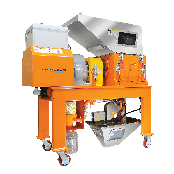 CRUTEC ECO Low speed granulator : simultaneous crush and dust removal with less dust and noise