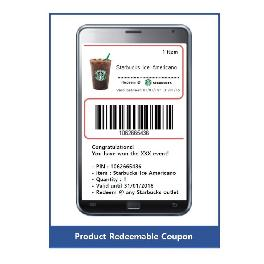Enable Corp Mobile Coupon Service Platform Making coupon image with barcode (made in Korea)