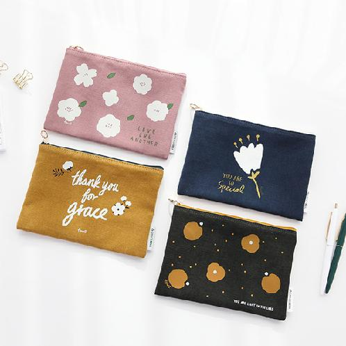 Korea's trendy and luxury  GRACEBELL flower pouch made from 100% cotton | gracebell ,  flower ,  pouch ,  cosmetic ,  cotton