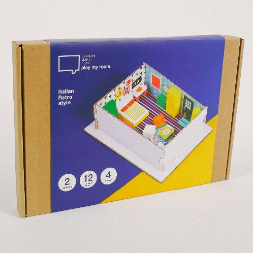 [play my room] Studio Planning/Furniture Arranging Kit for Children (Educational Toys / Italian Retr | Toy, education, dollhouse, interior, diy