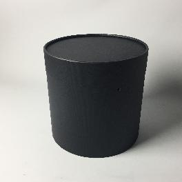 Flower paper tube 180x175 (Black)_Flower Cake Packing Box Cylinder Gift Box Wrapping Supplies