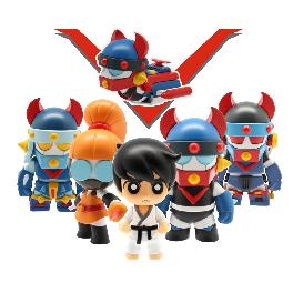 Classic animation film ROBOT TAE KWON V with four versions of Taekwon V, Hooni, and Mary
