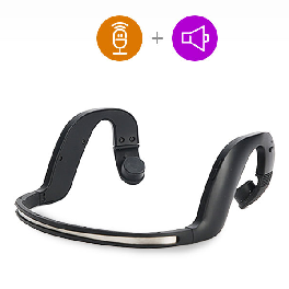 ETEREO Hearing Assistance, Bone Conduction Bluetooth Headset H+ (Black, Gray) made in Korea