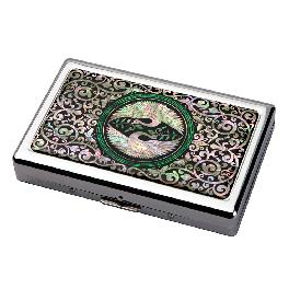 Korea Modern Design Multicolored Steel Mother of Pearl Protecting Cigarette Case
