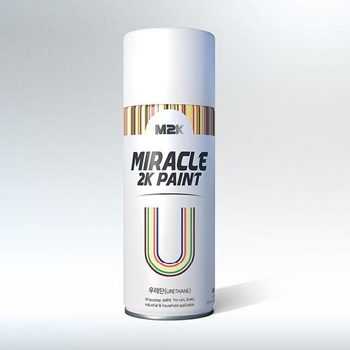 MIRACLE 2K PAINT U(Urethane) | paint, spray, lacquer, aerosol, aerosol spray, M2K, MIRACLE, two liquid type