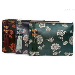 CLUTCH BAG WITH TRADITIONAL PATTERN AND NORIGAE COMBINATION 1