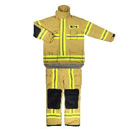 Stout, Multipurpose, Fireproof ARAMID FIRE FIGHTING SUIT (TS-FFS-1603-JK&PT) made in Korea