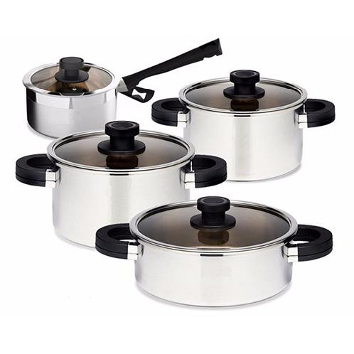 Minuet Stinless steel pot set | Stainless Steel Cookware, Stainless Steel Pot, Stainless Steel Cookware set, Minuet Stinless steel pot set, My Home Shopping