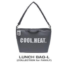 Korea Play Jello 5 colors Cool Heat Logo Clean Simple Modern Lunch Bag. L