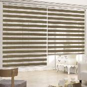 100% Polyester Combi Blind (Chrome Stripe) with various colors for light control and ventilation
