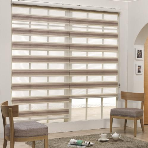 Combi Blind Wrinkle model (N-Monica Triple) with various colors for light control and ventilation | Combi blind, pleated Blind, blinds, Zebra Blind, Wrinkle model, curtains, window accessories