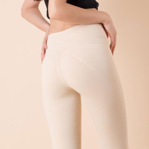 Fitness leggings to highlight the beautiful curve of the hip twear Thong Leggings / Beige | yoga, leggings, fitness, beige, fitness clothes