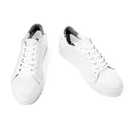 5.5CM UNISEX WHITE LEATHER ELEVATOR SNEAKERS(CL0004)