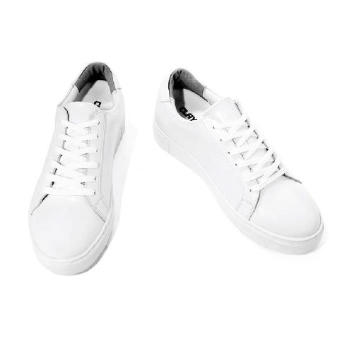 5.5CM UNISEX WHITE LEATHER ELEVATOR SNEAKERS(CL0004) | shoes, sneakers, elevator shoes, handmade shoes, unisex sneakers, white sneakers, casual shoes, leather sneakers, elevator sneakers