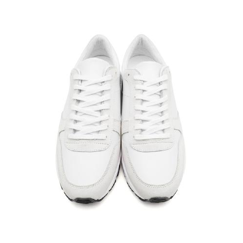 6CM UNISEX WHITE RUNNER ELEVATOR SNEAKERS(CL0016) | shoes, sneakers, elevator shoes, handmade shoes, unisex sneakers, white sneakers, casual shoes, elevator sneakers