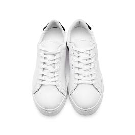5.5CM UNISEX WHITE LEATHER ELEVATOR SNEAKERS(CL0007)