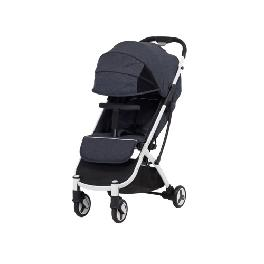Comfortable SESTO LITE T with 3.5 large full canopy and one touch folding system (Grey, Navy)