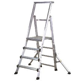 Platform ladder with Built-In tool tray