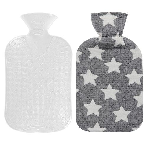 Fashy Hot Water Bottle with Star Pattern Cotton Cover (Brown,67oz) | Fashy,Hot Water Bottle,apply a hot pack to,period pains