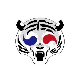 Trendy and comfortable, semi-permanent and water-proof Korea tiger mask 'Aeta' for entertainment