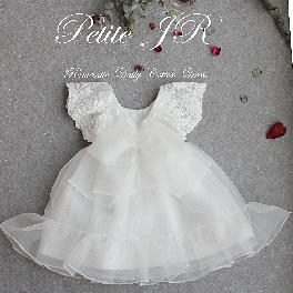 New Fashion Latest Design Cute and Lovely Wear Product Magnolia Long Dress & Lace Bonnet
