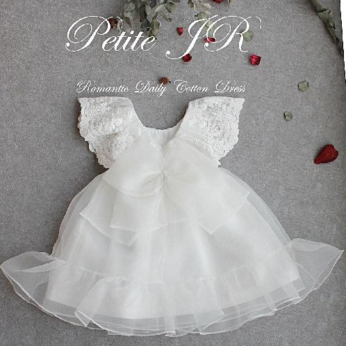 New Fashion Latest Design Cute and Lovely Wear Product Magnolia Long Dress & Lace Bonnet | Baby Christening Dress, Handmade, Baptism Dress, Party Dress, White Dress, Infant dress, Cotton Dress , Lace bonnet , baby girl clothes