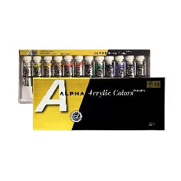 ALPHA ACRYLIC COLORS many artist use in painting, art made in Korea