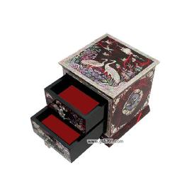 Saveable Lacquerware case with  multifunctional  Cosmetic craft box wonderful wooden case
