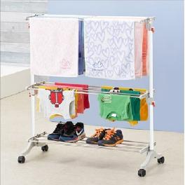 Efficiency wide size smart Korea High-ahn Drying Rack with sturdy legs and 8 wheels