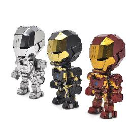 Vivid color metal Iron Man SD(sheet 1, sheet manual, 3 magnets, support) Red, Black, Silver