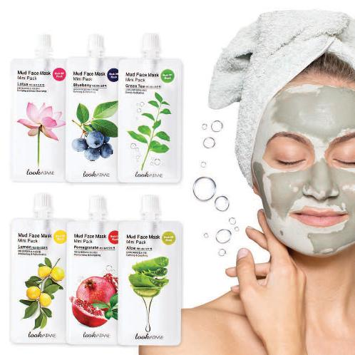 Only 15 minutes Mud Face Mask Mini Pack (6 types, 30ml) to get various effects and  beautiful skin | face, mask, pack, Korean, cosmetics