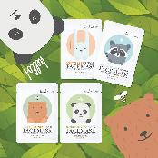 Animal Face Mask ( Vegetable, Aqua moisture, Sweet honey, Natural bamboo  ) with various effects