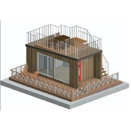 Cabin 2500 Modular, Small House, Emergency Housing, Office made in Korea