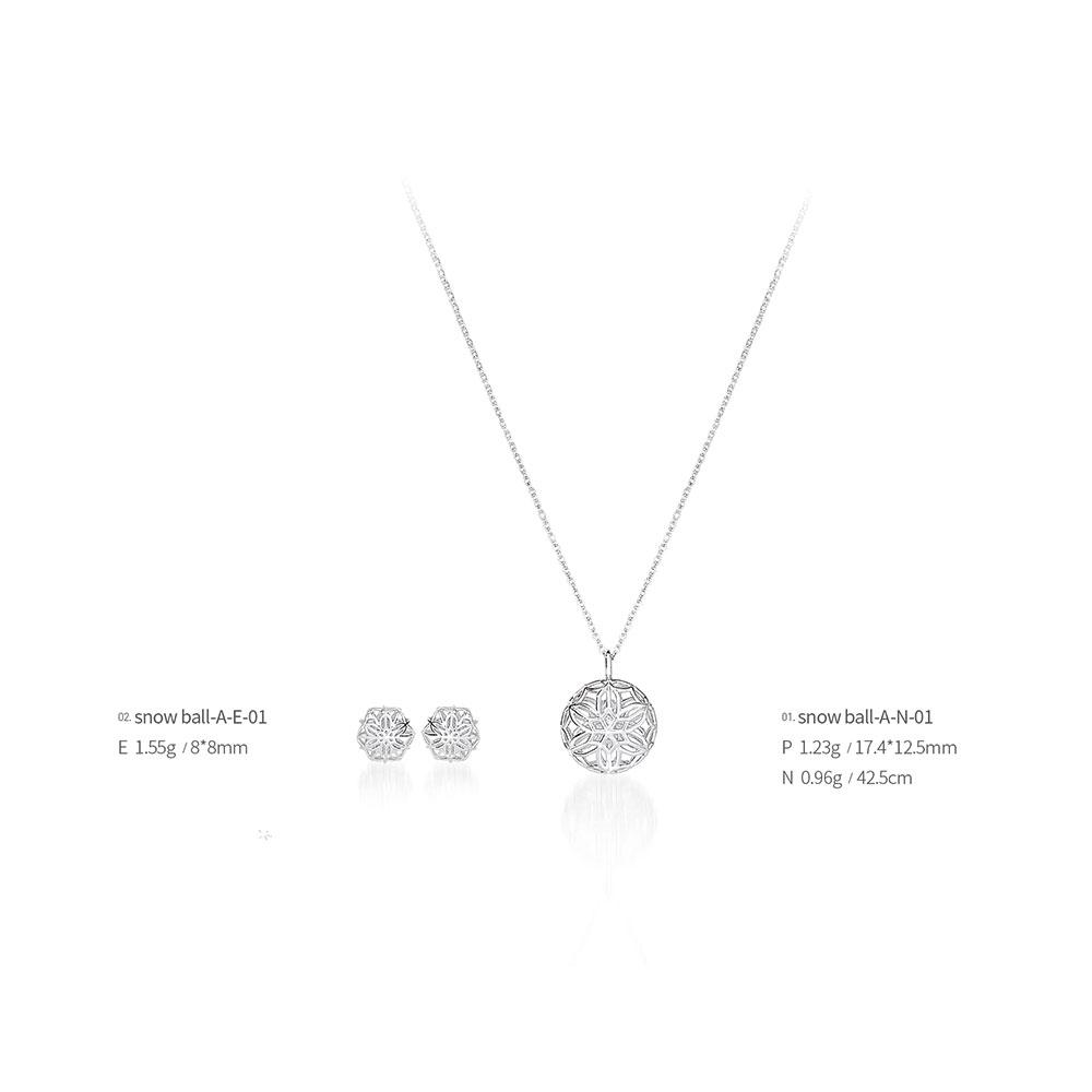 Snow ball jewelry snow ball-A-01(Earrings, Necklaces), made in Korea