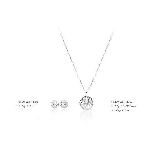Snow ball jewelry snow ball-A-01(Earrings, Necklaces), made in Korea | Jewelry, Earrings, Necklaces, Silver, jewellery