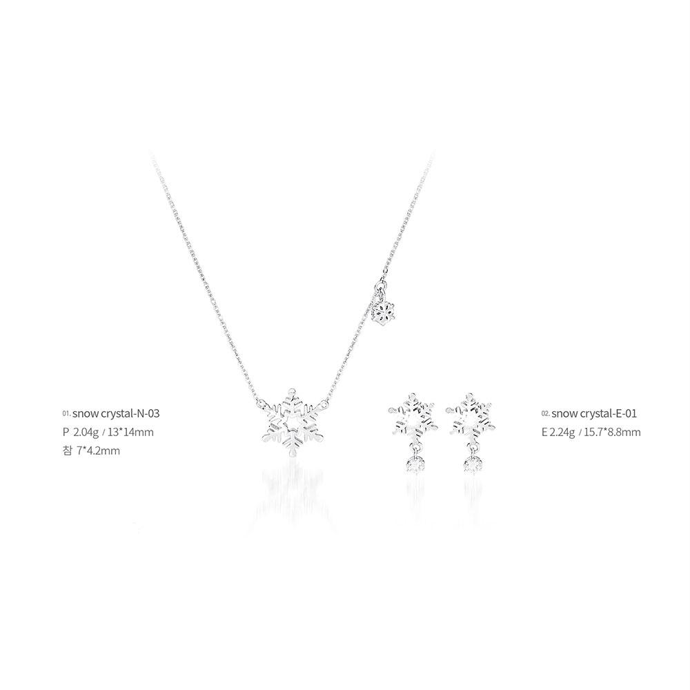 snow crystal jewelry snow crystal-03 (Earrings, Necklaces), made in Korea